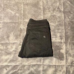 Rag & Bone Black High Waisted Skinny Jeans